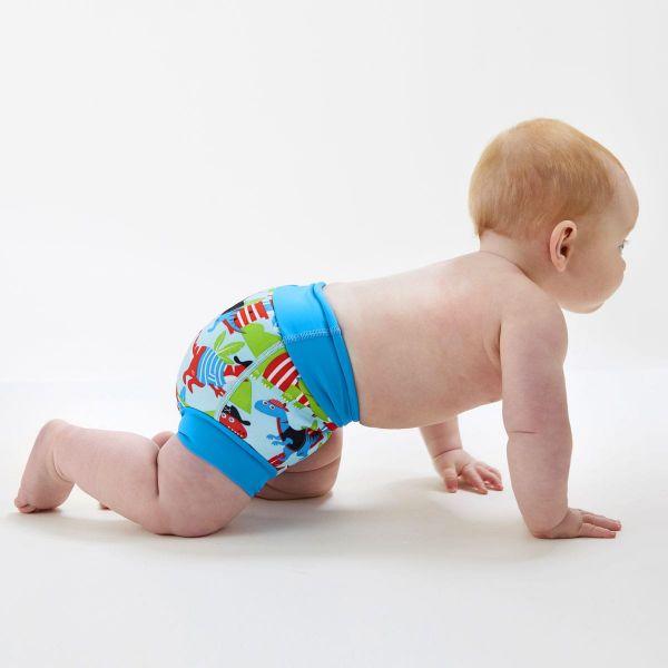 Slip înot/scutec de apă bebeluşi - Happy Nappy™ Pirații Dino [3]