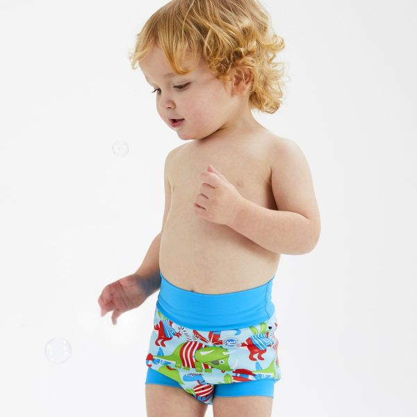Slip înot/scutec de apă bebeluşi - Happy Nappy™ Pirații Dino [2]