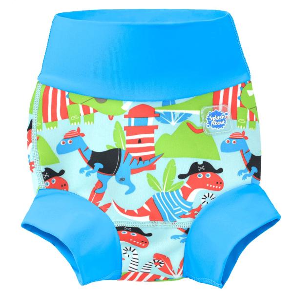 Slip înot/scutec de apă bebeluşi - Happy Nappy™ Pirații Dino [0]