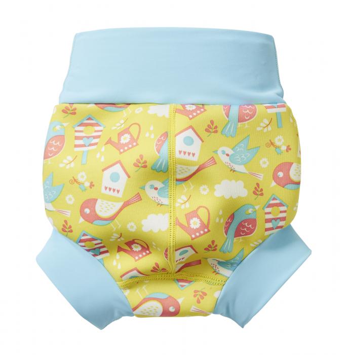 Slip înot/scutec de apă bebeluşi - Happy Nappy™ Păsări de Grădină 1