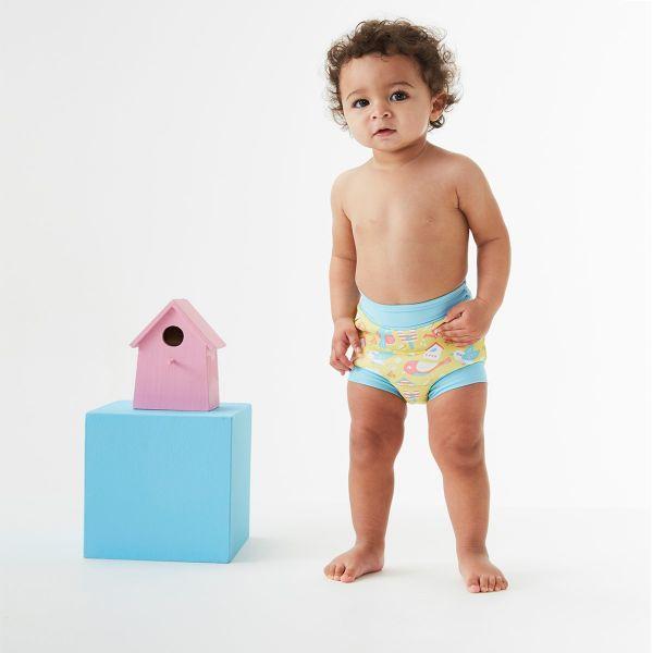 Slip înot/scutec de apă bebeluşi - Happy Nappy™ Păsări de Grădină 3