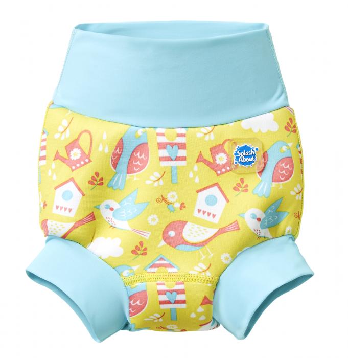 Slip înot/scutec de apă bebeluşi - Happy Nappy™ Păsări de Grădină 0