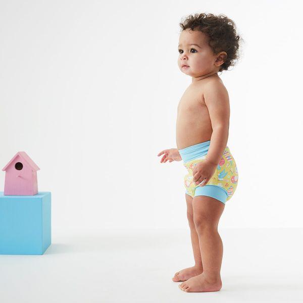 Slip înot/scutec de apă bebeluşi - Happy Nappy™ Păsări de Grădină 2