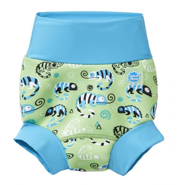 Slip înot/scutec de apă bebeluşi - Happy Nappy™ Gegoşii Verzi [0]