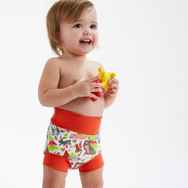 Slip înot/scutec de apă bebeluşi - Happy Nappy™ Din Pădure 2