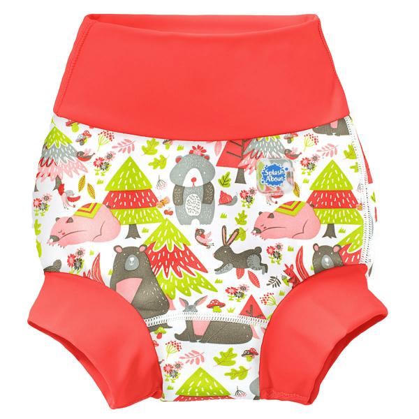 Slip înot/scutec de apă bebeluşi - Happy Nappy™ Din Pădure [0]