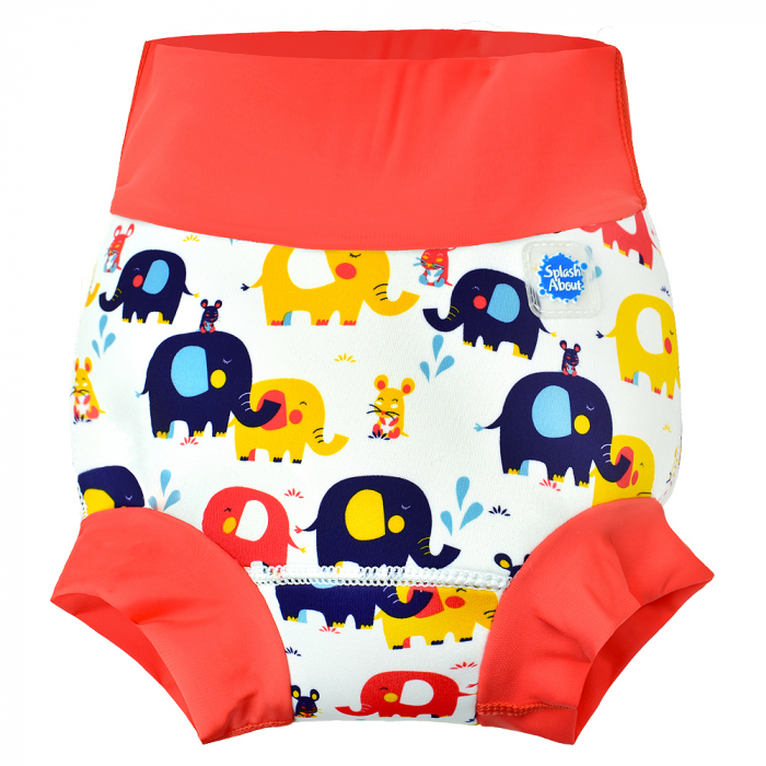Slip înot/scutec de apă bebeluşi - Happy Nappy™ Micii Elefanți 0
