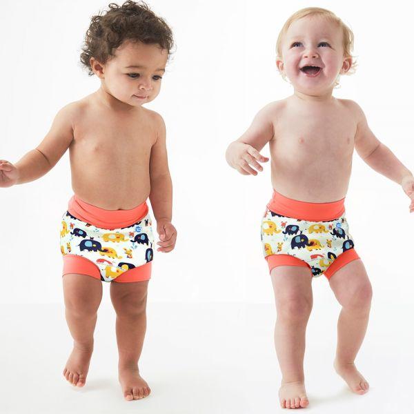 Slip înot/scutec de apă bebeluşi - Happy Nappy™ Micii Elefanți 2
