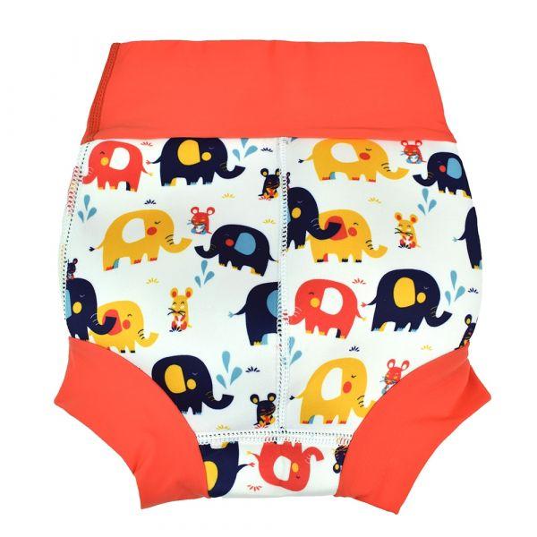 Slip înot/scutec de apă bebeluşi - Happy Nappy™ Micii Elefanți 1