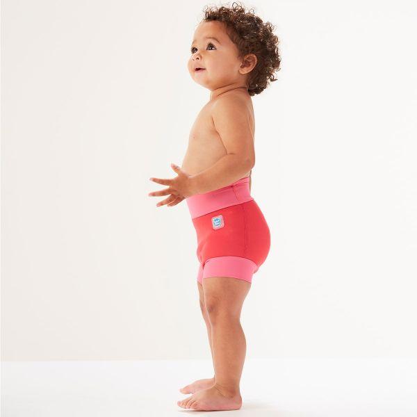 Slip înot/scutec de apă bebeluşi - Happy Nappy™ Roz Geraniu 2