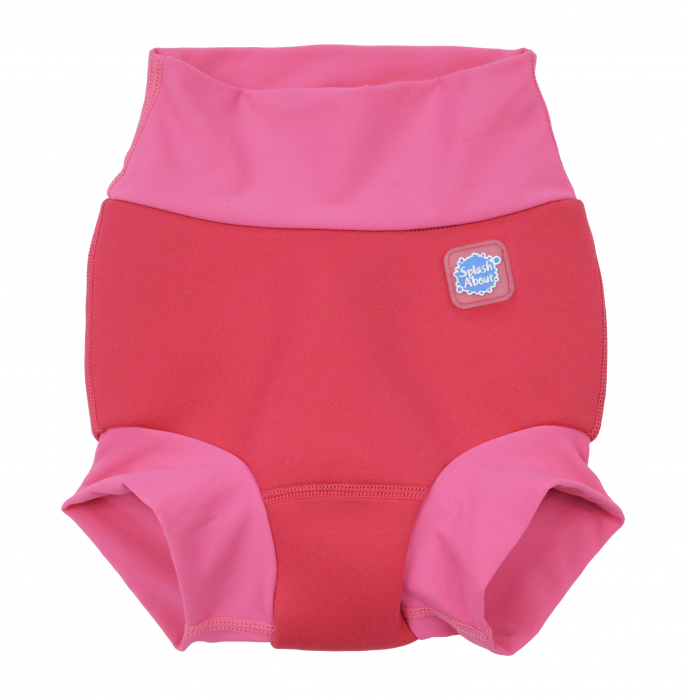 Slip înot/scutec de apă bebeluşi - Happy Nappy™ Roz Geraniu 0