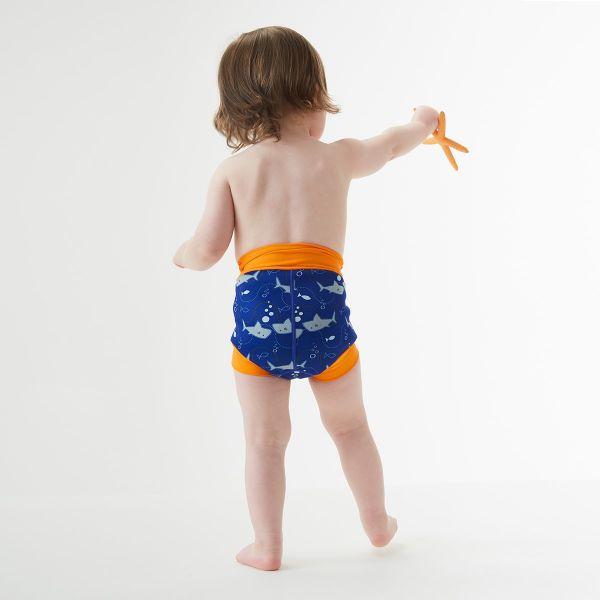 Slip înot/scutec de apă bebeluşi - Happy Nappy™ Rechinii Simpatici 3