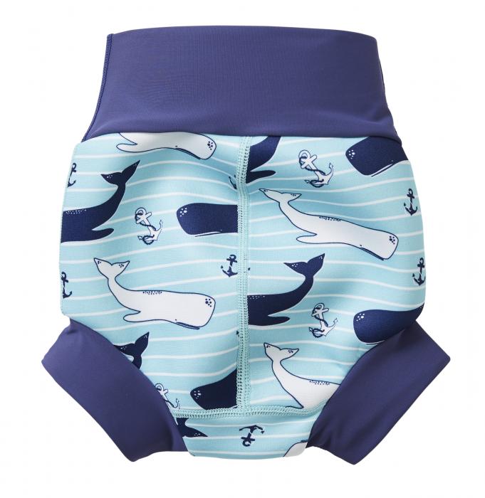 Slip înot/scutec de apă bebeluşi - Happy Nappy™ Balene Uriaşe 1