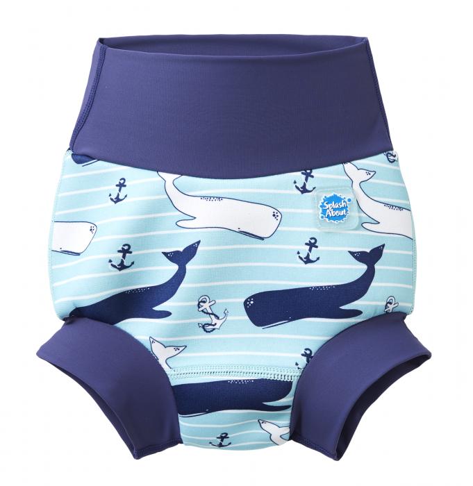 Slip înot/scutec de apă bebeluşi - Happy Nappy™ Balene Uriaşe 0