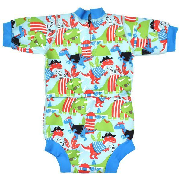 Costum neopren/scutec bebeluşi - Happy Nappy™ Pirații Dino 1
