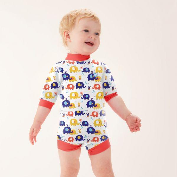 Costum neopren/scutec bebeluşi - Happy Nappy™ Micii Elefanți 2