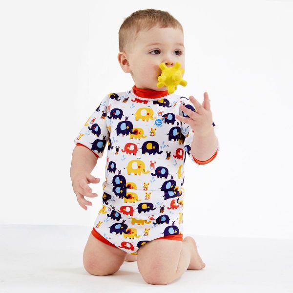 Costum neopren/scutec bebeluşi - Happy Nappy™ Micii Elefanți 4