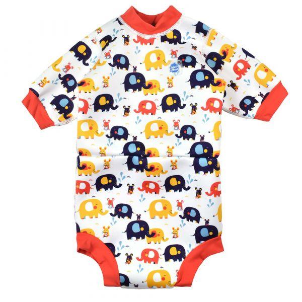 Costum neopren/scutec bebeluşi - Happy Nappy™ Micii Elefanți 0