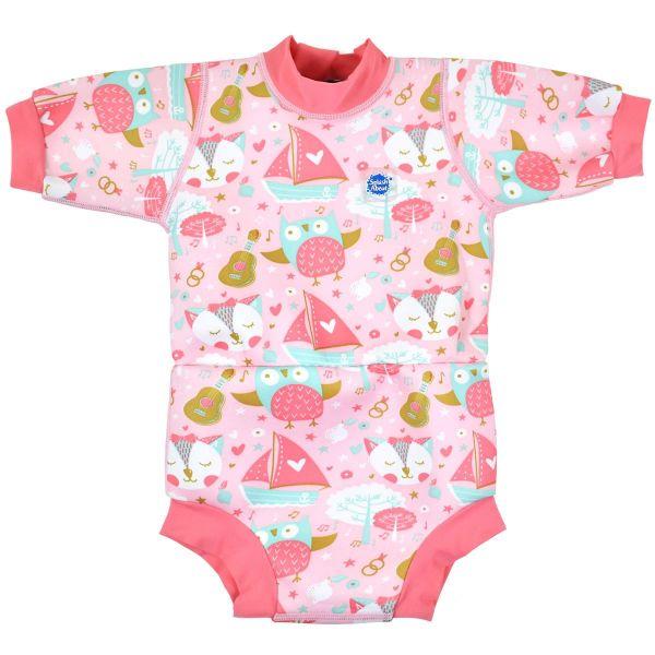 Costum neopren/scutec bebeluşi - Happy Nappy™ Bufnițe şi Pisicuțe 0