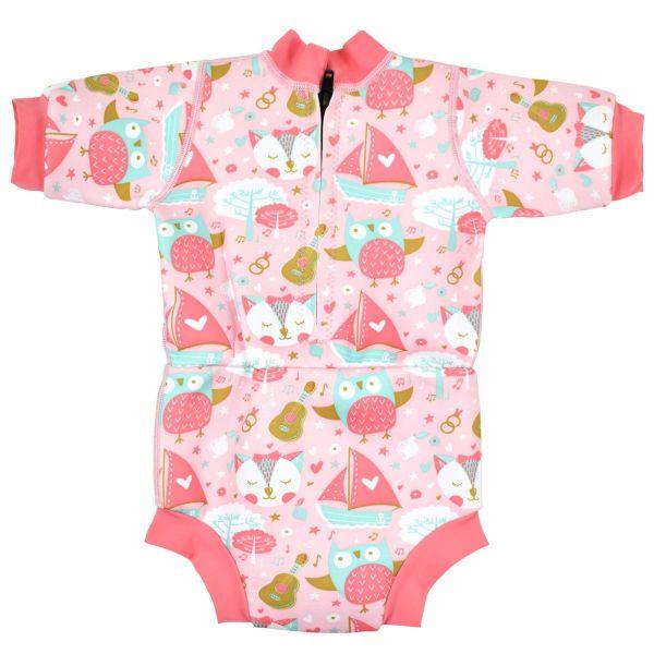 Costum neopren/scutec bebeluşi - Happy Nappy™ Bufnițe şi Pisicuțe 1