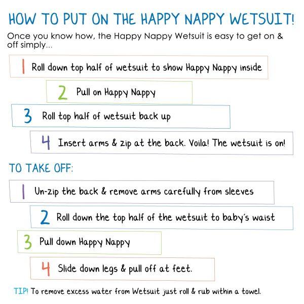 Costum neopren/scutec bebeluşi - Happy Nappy™ Roz Geraniu 5