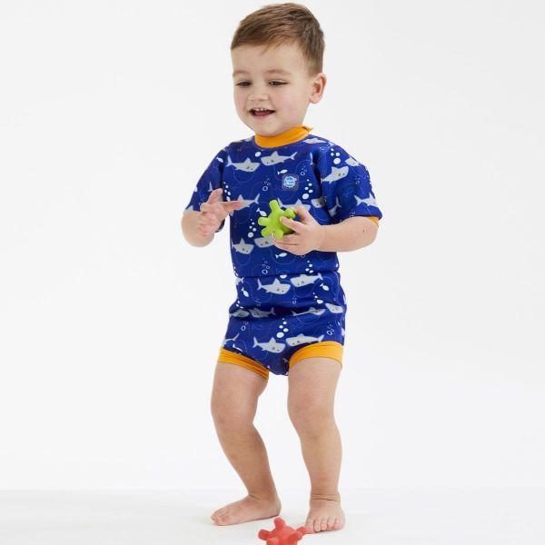 Costum neopren/scutec bebeluşi - Happy Nappy™ Rechinii Simpatici 1