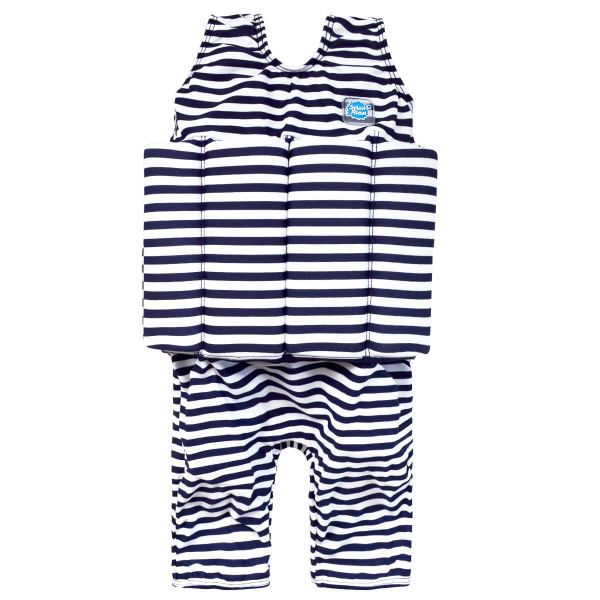 Costum înot plutitor baieti - Short John Floatsuit Dungi Marine 0