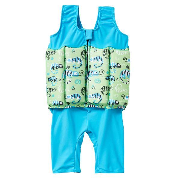 Costum înot plutitor baieti - Short John Floatsuit Gegoşii Verzi 1