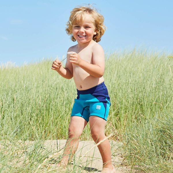 Pantalon scurt înot/incontinență copii - Splash Jammers Marin/Jad 2