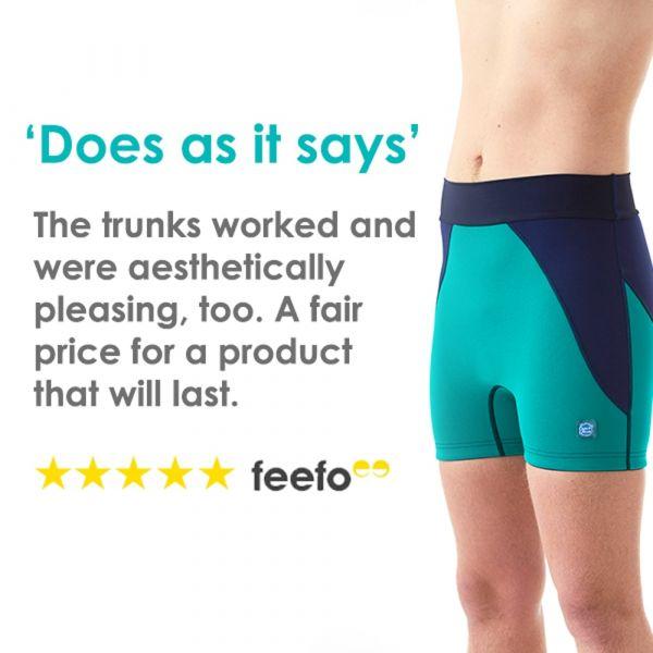 Pantalon scurt înot/incontinență adulți  - Splash Jammers Marin/Jad 6