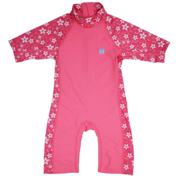 Costum protecție UV copii - Toddler UV Sunsuit Flori Rozalii 0