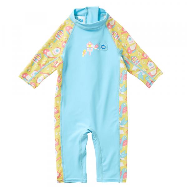 Costum protecție UV copii - Toddler UV Sunsuit Păsări de Grădină 0