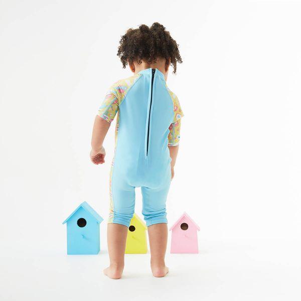 Costum protecție UV copii - Toddler UV Sunsuit Păsări de Grădină 1