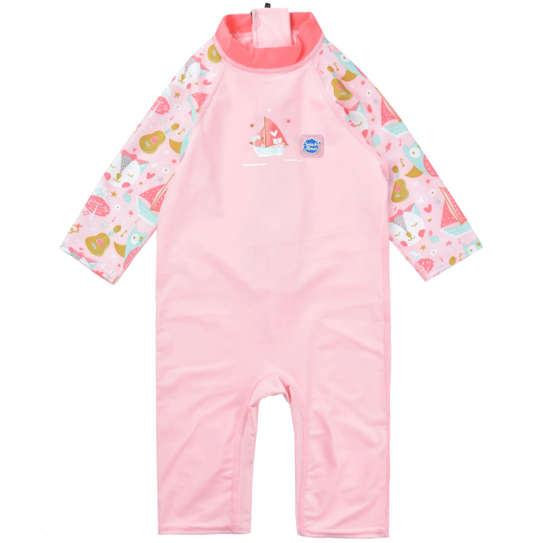 Costum protecție UV copii - Toddler UV Sunsuit Bufnițe şi Pisicuțe 0
