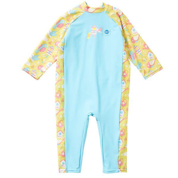 Costum protecție UV bebeluşi - UV All In One  Păsări de Grădină 0