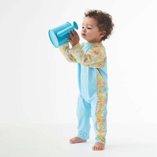 Costum protecție UV bebeluşi - UV All In One  Păsări de Grădină 3