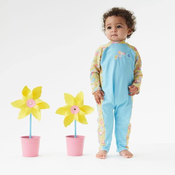 Costum protecție UV bebeluşi - UV All In One  Păsări de Grădină 2
