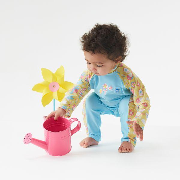 Costum protecție UV bebeluşi - UV All In One  Păsări de Grădină 4