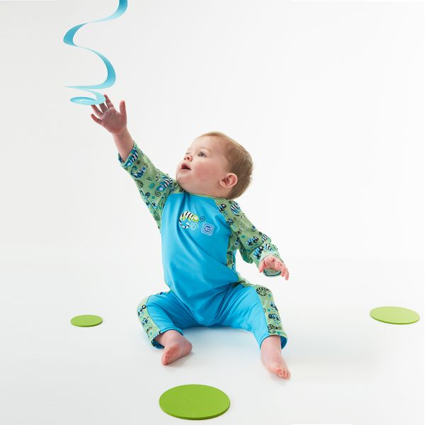 Costum protecție UV bebeluşi - UV All In One Gegoşii Verzi 3