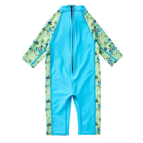Costum protecție UV bebeluşi - UV All In One Gegoşii Verzi 1