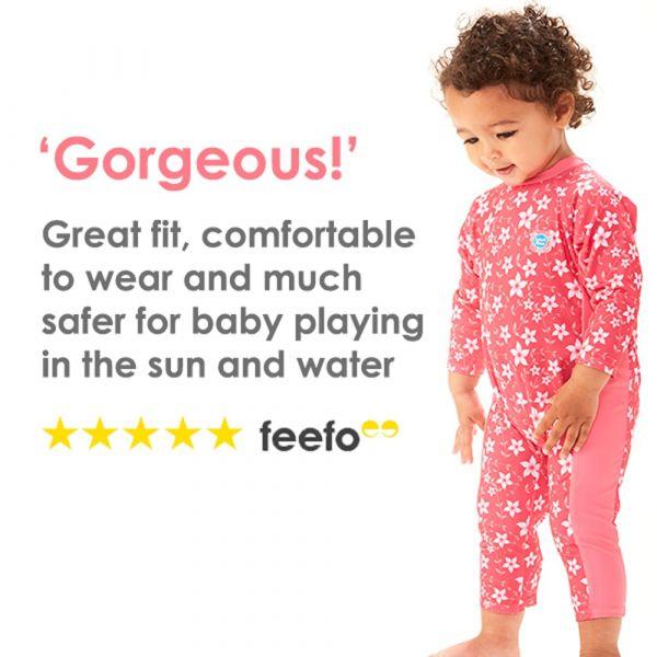 Costum protecție UV bebeluşi - UV All In One Gegoşii Verzi 5