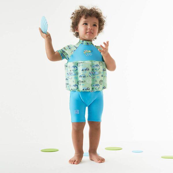 Costum înot plutitor/protecție UV copii-UV Floatsuit Gegoşii Verzi [3]