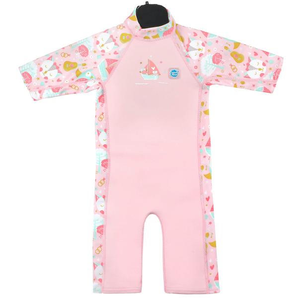 Costum protecție UV/neopren copii - UV Sun & Sea Bufnițe şi Pisicuțe 0