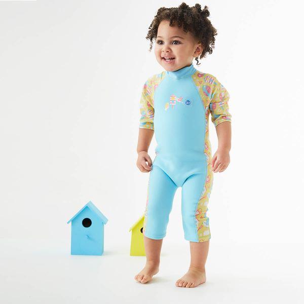 Costum protecție UV/neopren copii - UV Sun & Sea Păsări de Grădină 2