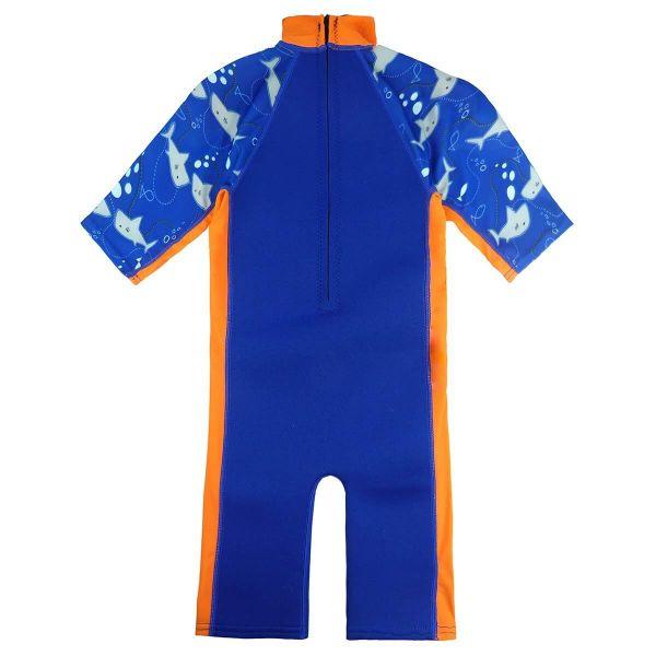 Costum protecție UV/neopren copii - UV Sun & Sea Rechinii Simpatici 1