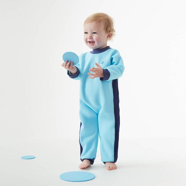 Costum întreg neopren bebeluşi - Warm In One™ Albastru Cobalt 3