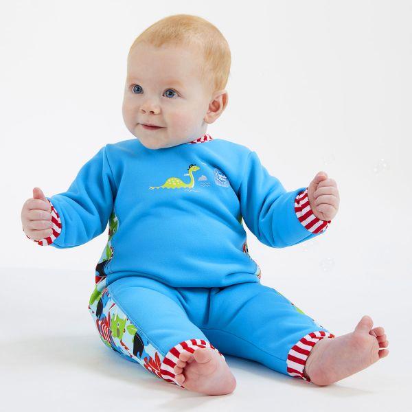 Costum întreg neopren bebeluşi - Warm In One™ Pirații Dino [2]