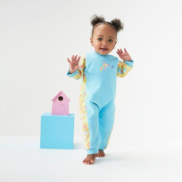 Costum întreg neopren bebeluşi - Warm In One™ Păsări de Grădină 2