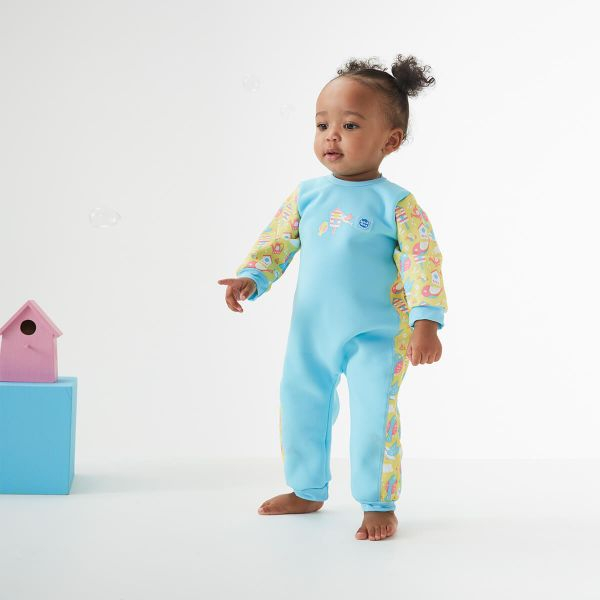 Costum întreg neopren bebeluşi - Warm In One™ Păsări de Grădină 3