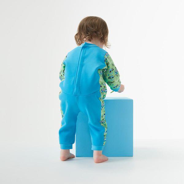 Costum întreg neopren bebeluşi - Warm In One™ Gegoşii Verzi 3